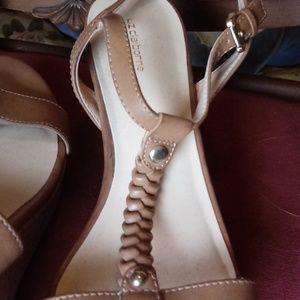 Liz Claiborne Shoes - Tan wedge sandals